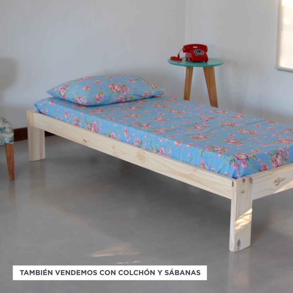 Cama Otomana Tipo Sommier Pino Macizo Natural Stockhoy - $ 1.099,00 ...