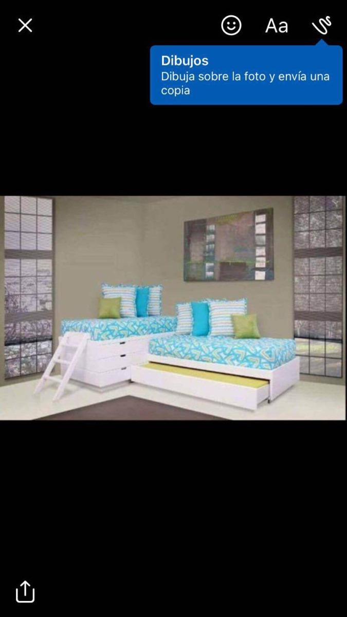 08090590f3a67 cama para 3 niños y cajonera. 3 Fotos
