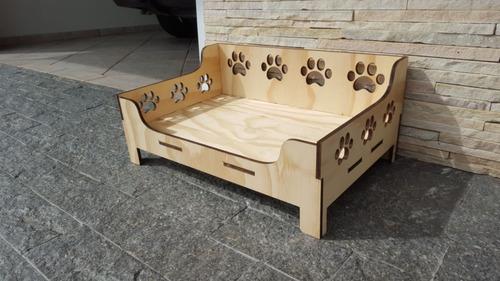 cama para cachorro / gato em compensado 9mm