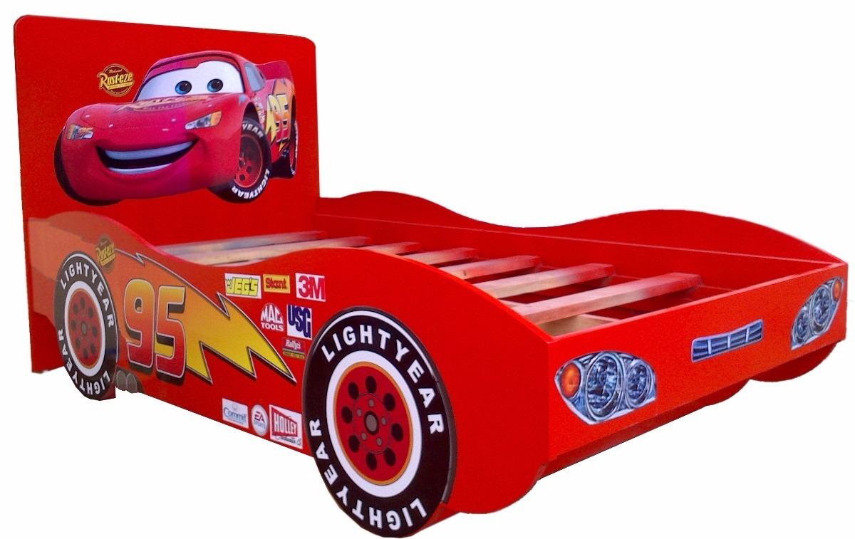 Cama de cars rayo macqueen disney base de cama para ni os 2 en mercado libre - Camas infantiles de cars ...
