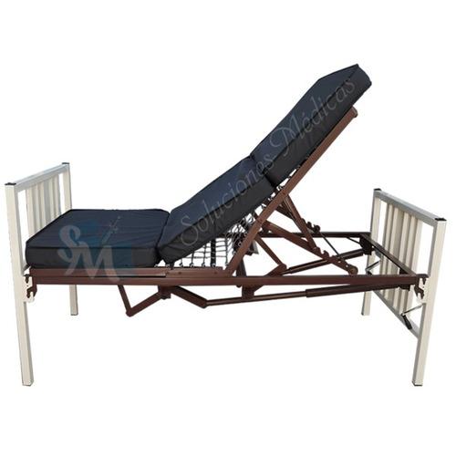 Cama para hospital manual con ruedas y colch n seccionado - Ruedas para cama ...
