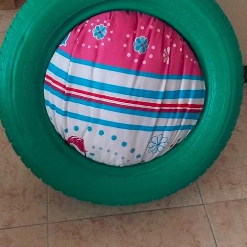 cama para mascota de material reciclado
