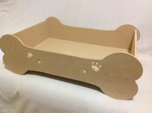 cama para mascota perro gato en mdf crudo