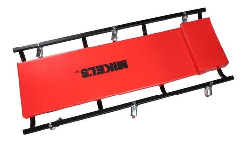 cama para mecanico acolchonada comoda 6 ruedas mikels