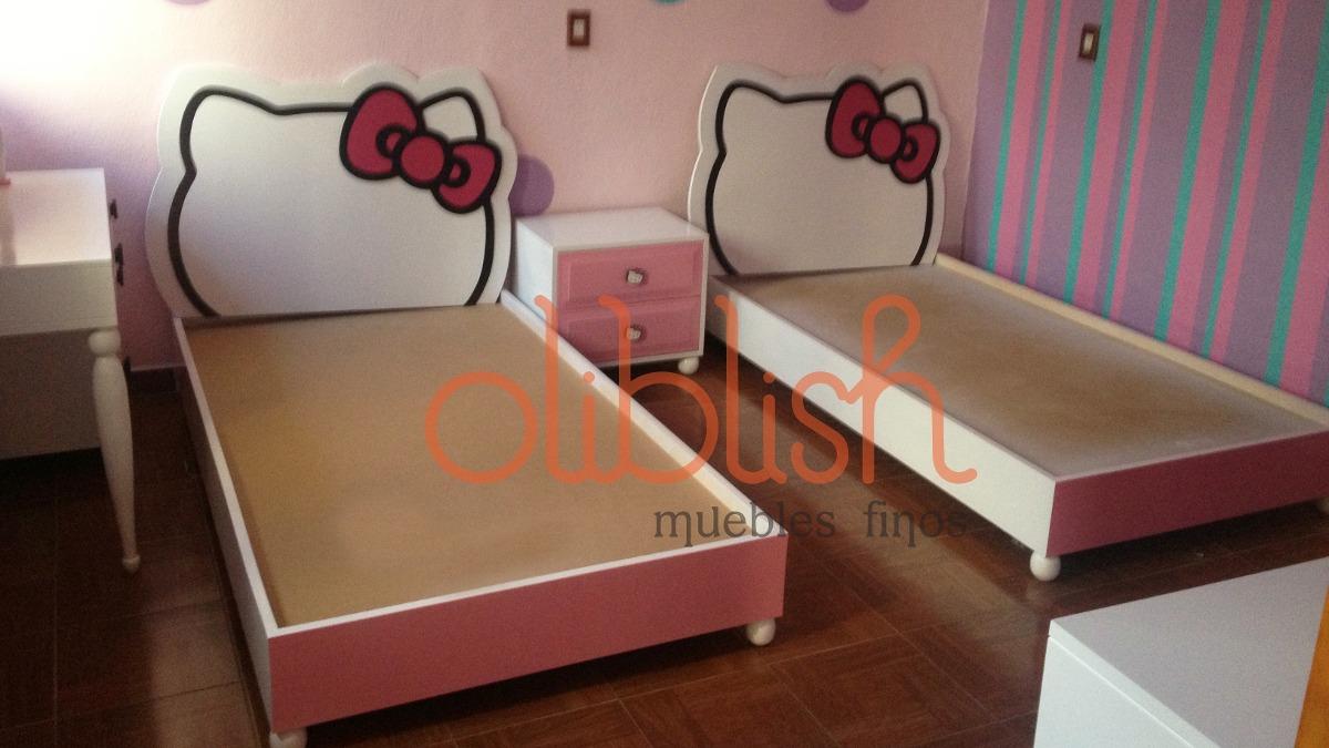 Cama para ni a kitty super oferta 4 en mercado for Recamara matrimonial para nina