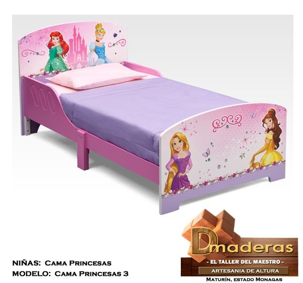 Cama para ni as modelo princesas pr2 bs en for Camas individuales para ninas