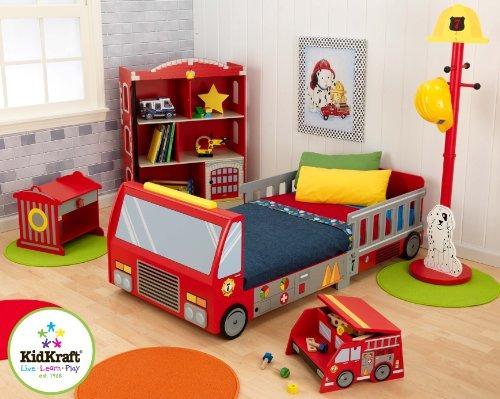 cama para niños pequeños kidkraft fire truck