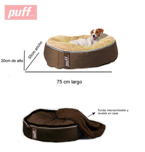 cama para perros razas medianas y chicas pet puff chico