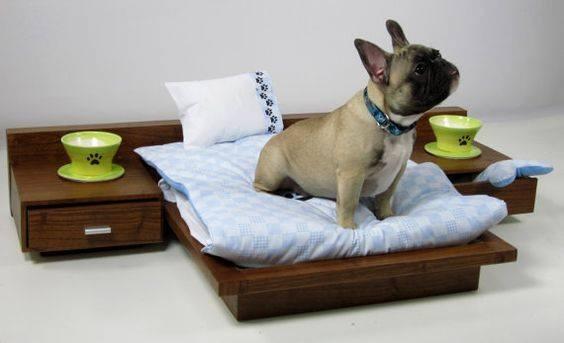 Cama para perros y gatos en madera en mercado for Muebles para gatos ikea