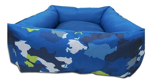 cama perro gato lucky camuflaje azul tx10467 fancy pets