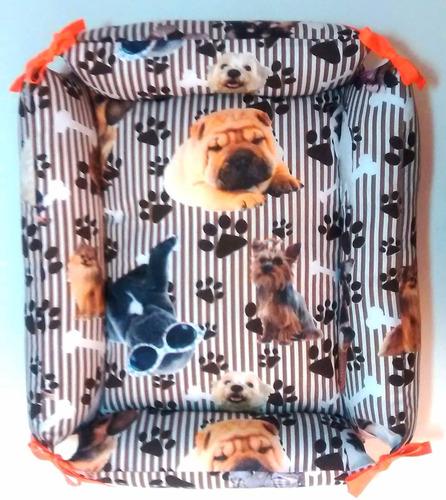 cama pet,cachorro/gato,caminha g,lavável,c/zíper,sem espuma