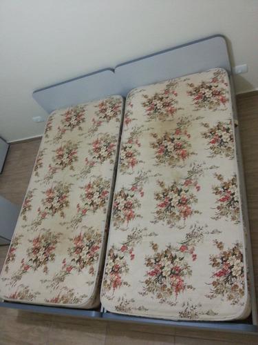 cama planejada com cabeceira + antigo colchão probel super