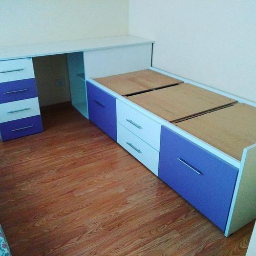 cama plaza dormitorio