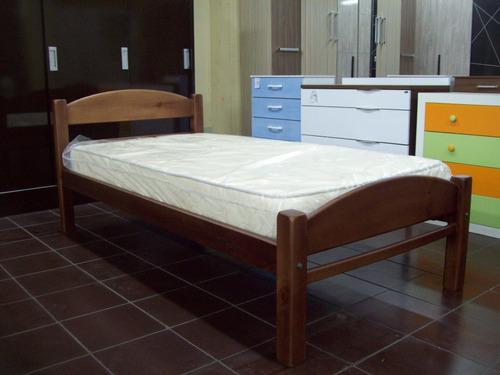 cama plaza madera