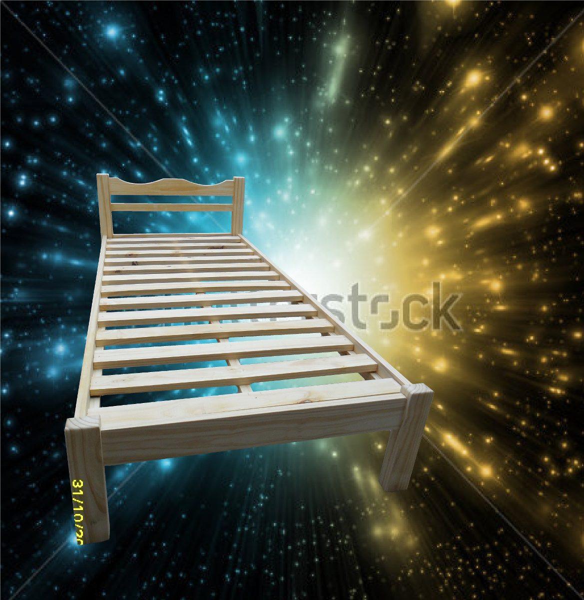 Cama 1 plaza exelente terminacion en madera masiza 1 for Precio cama 1 plaza