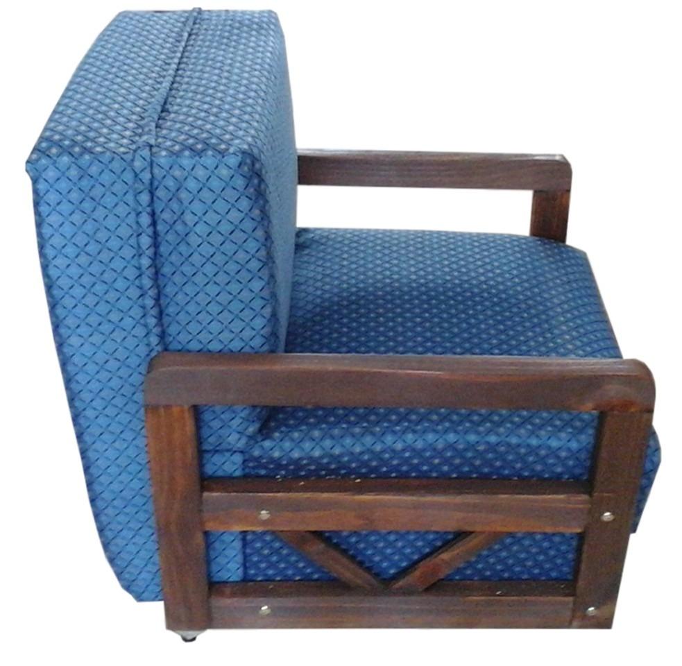 Sofa cama 1 plaza con posabrazos de madera mi casa 3 for Ofertas de camas 1 plaza
