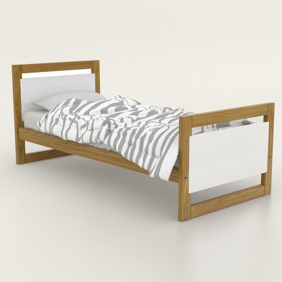 Cama 1 Plaza Teen - Pergamino Muebles - $ 3.844,00 en Mercado Libre