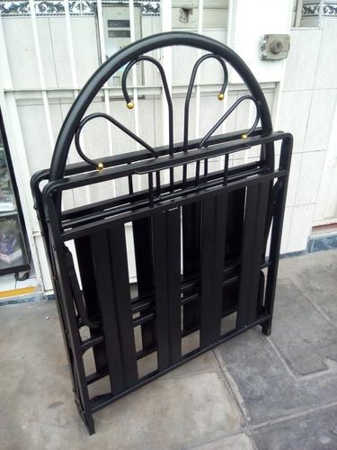cama plegable 1 plaza bayeta 0.90 x1.90 con cabecera nuevo