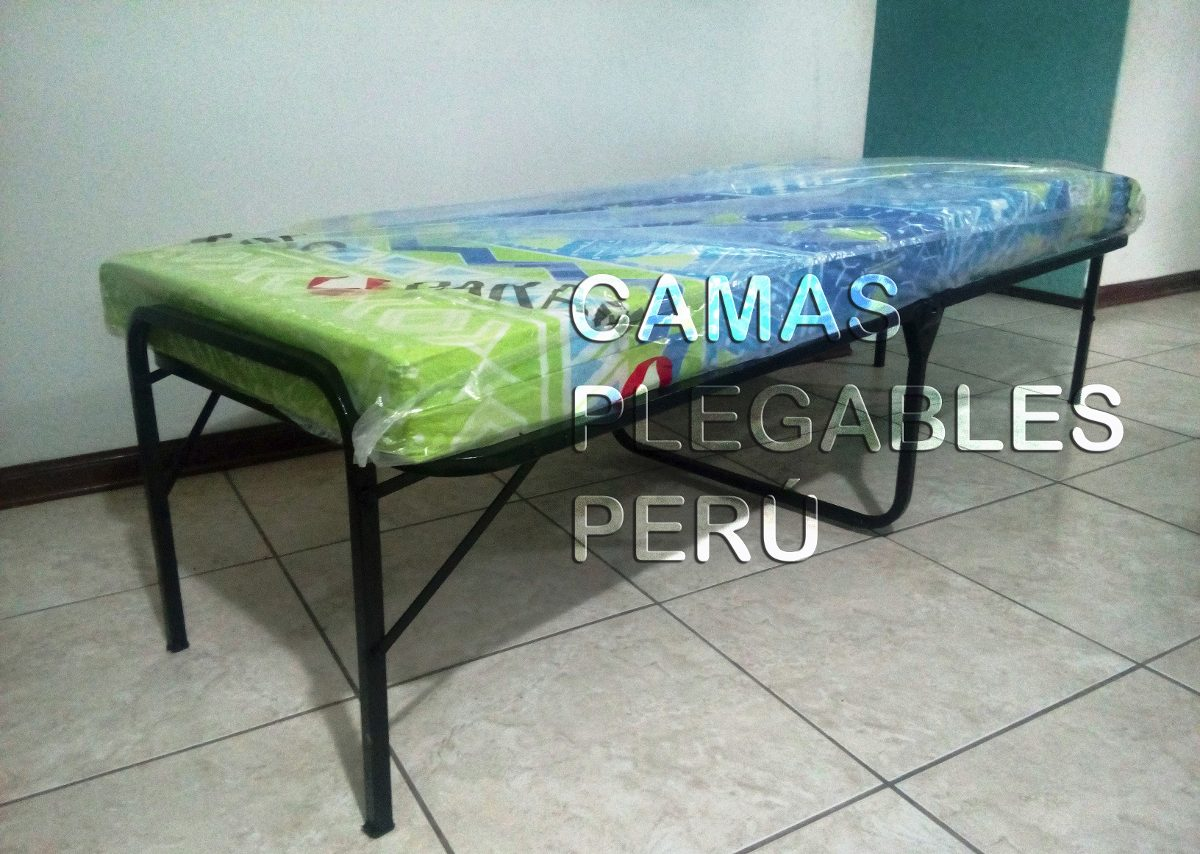 Cama plegable 1 plaza colchon de regalo nuevo tipo for Sillon cama una plaza plegable