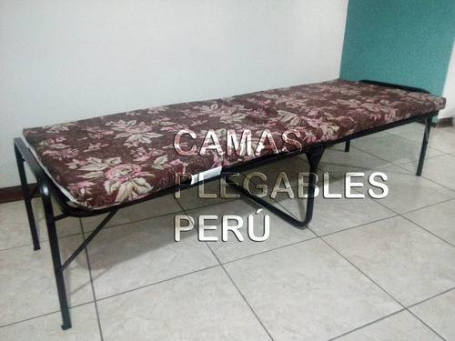 cama plegable 1 plaza tipo comodoy+colchón nuevo