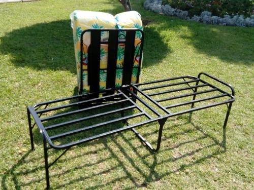 cama plegable 1 plaza tipo comodoy+colchon...nuevo!