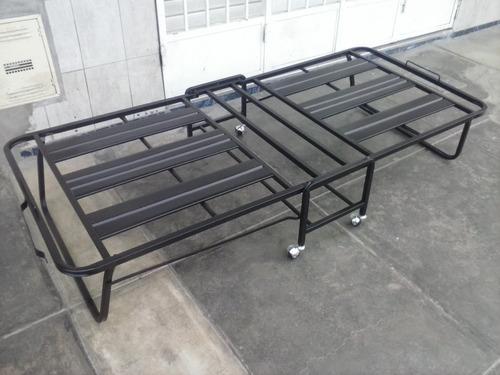 cama plegable con ruedas bayeta sin colchon( articulo nuevo)