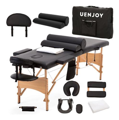 cama plegable masaje portátil + sabana +extras meses sin/int