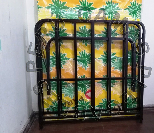 cama plegable plaza y media tipo comodoy+colchon.2 pulgadas