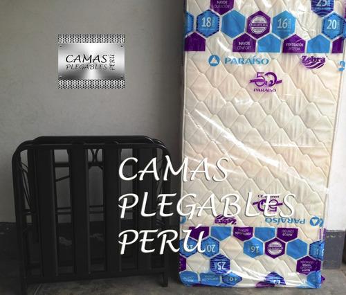 cama plegable super reforzada + colchón zebra d16 nuevo!!!