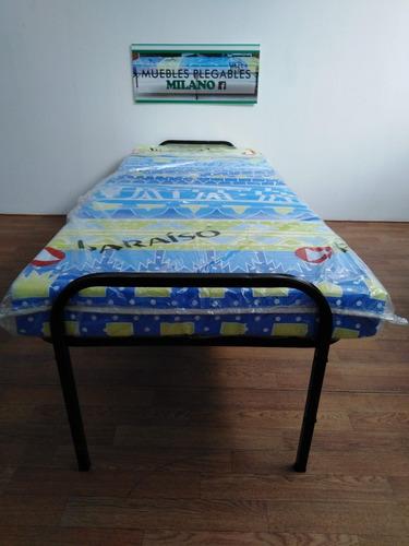 cama plegable  unipersonal con colchon 4   nuevo!