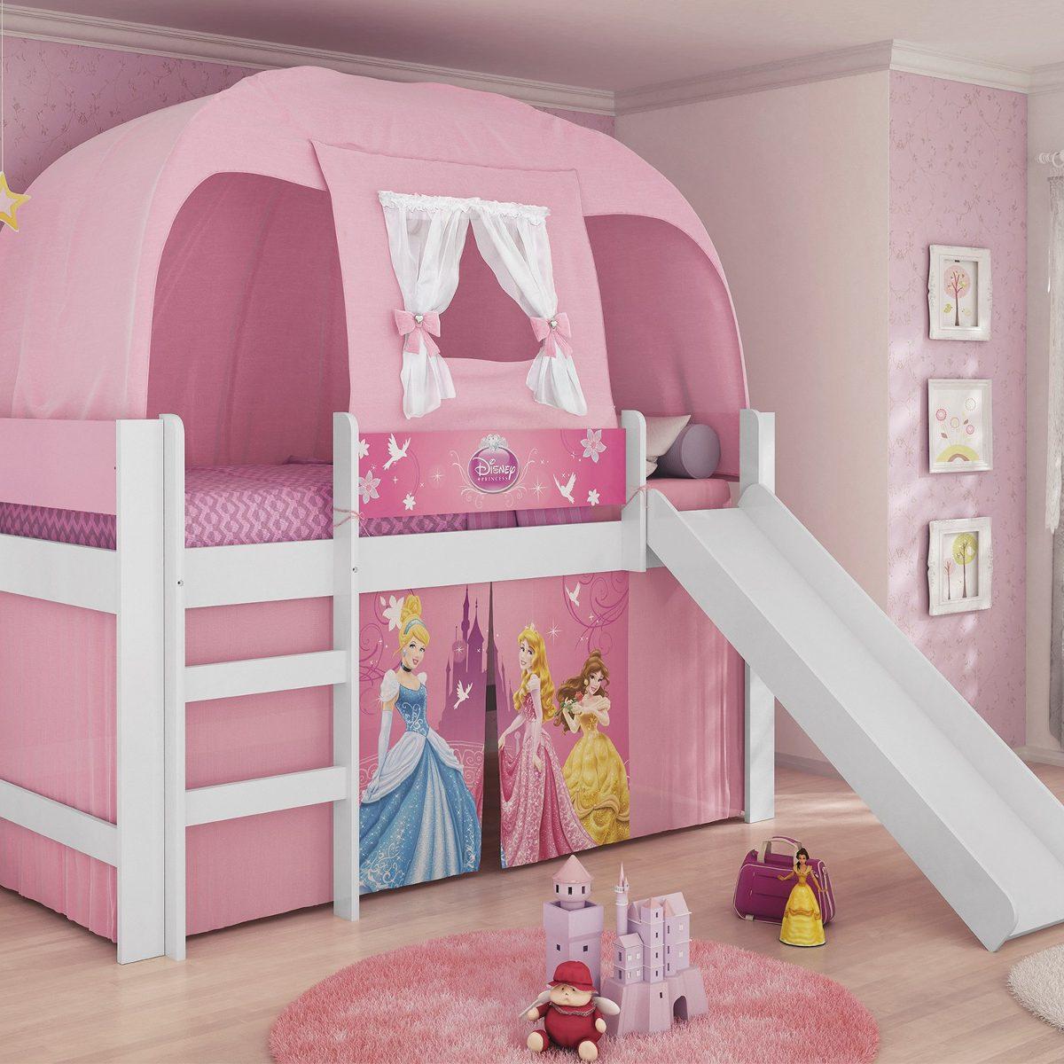 Cama princesas disney play com escorregador e barraca pura r em mercado livre - Camas de princesas ...