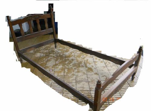 cama provenzal  de 1 plaza de pino brasil