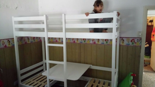 cama puente + cucheta+escritorio