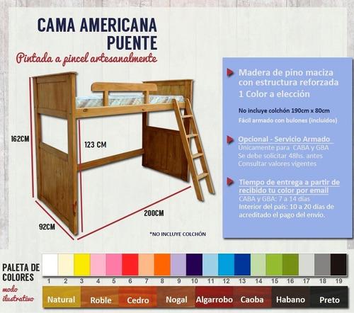 cama puente infantil - espacios pequeños - envío sin cargo*  ahora 6 y 12 cuotas