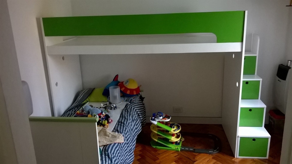 Escaleras Para Camas Altas Como Decorar Espacios Pequeos Con  ~ Escaleras Infantiles Para Camas Altas
