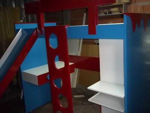 cama puente placard escritorio escalera baranda tobogan
