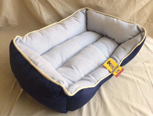 cama puff para perro dentitoy premium