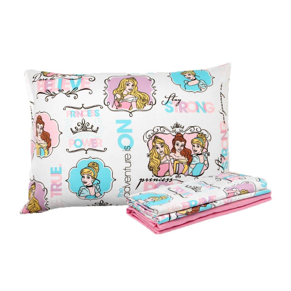 de8af046c3 Carregando zoom... jogo de cama 3 peças princesas disney para quarto de  menina