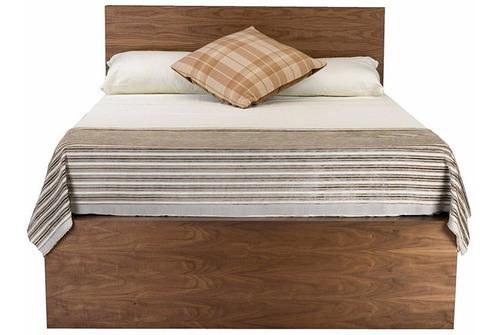 cama queen size london pino cabecera garantía - madera viva