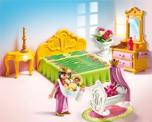 cama real con cuna playmobil pm5146 r5259