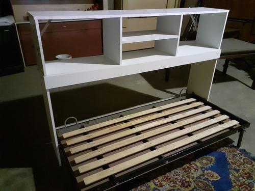 cama rebatible 1 plaza con alzada