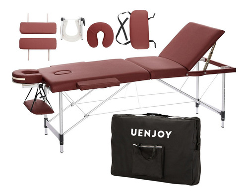 cama reclinable aluminio plegable masajes estuche colores