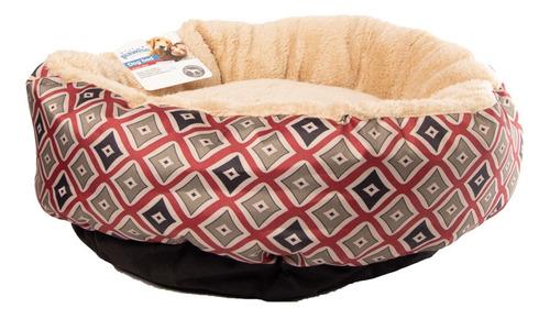 cama redonda para mascotas rojo pawise 40.64 cm
