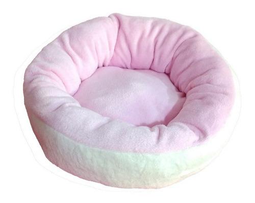 cama reforzada redonda rosa doble vista 40cm diametro