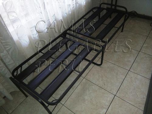 cama reforzada tipo comodoy + colchon 4   (nuevo)