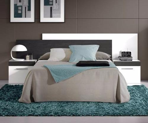 cama, respaldo y mesitas de luz muebles ryo modelo monterrey