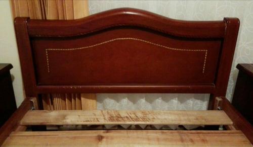 cama semidoble mesa de noche juego de alcoba