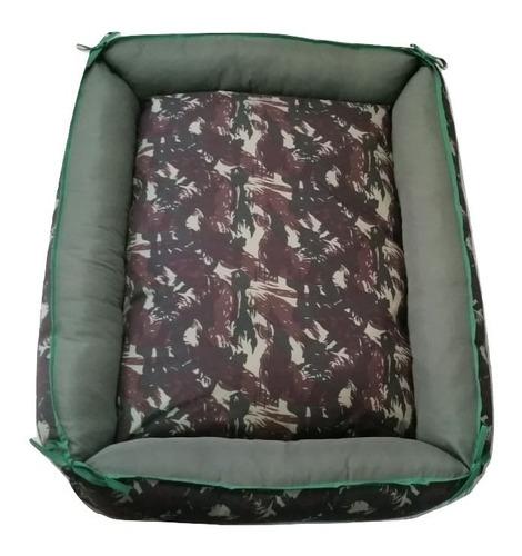 cama sofá caminha de fibra cor camuflado pet cachorro caes gatos porte / tamanho gg