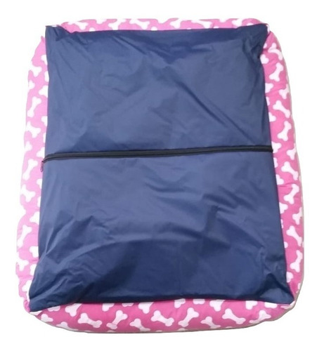 cama sofá caminha de fibra cor rosa pet cachorro caes gatos porte / tamanho g .