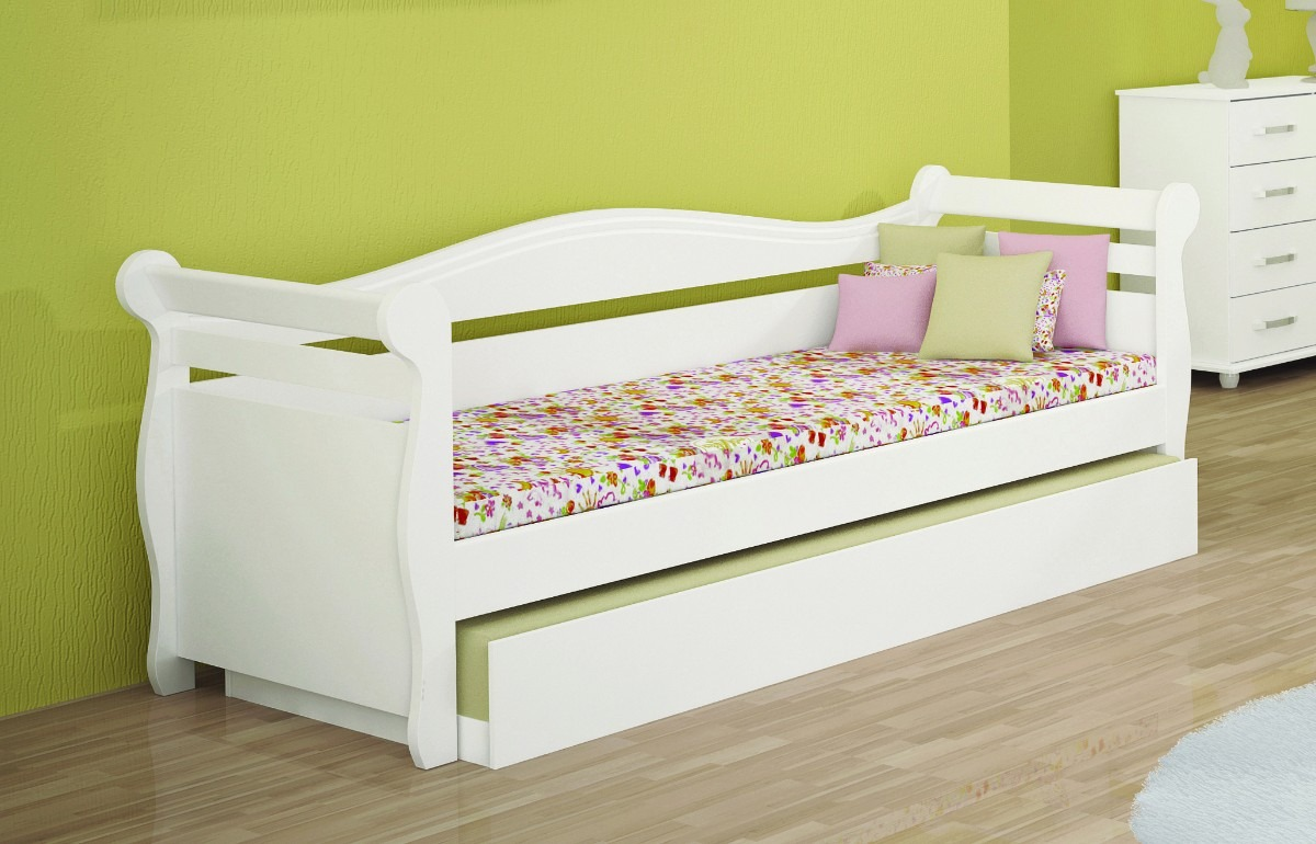 Cama baba solteiro com cama auxiliar bicama r 459 99 for Tipos de camas queen